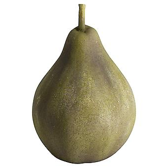Large Pear Outdoor Aged Stone Ornament