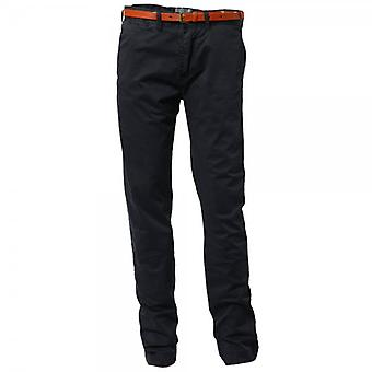 Scotch & Soda Slim-Fit Chino Pant With Leather Belt,Night 32