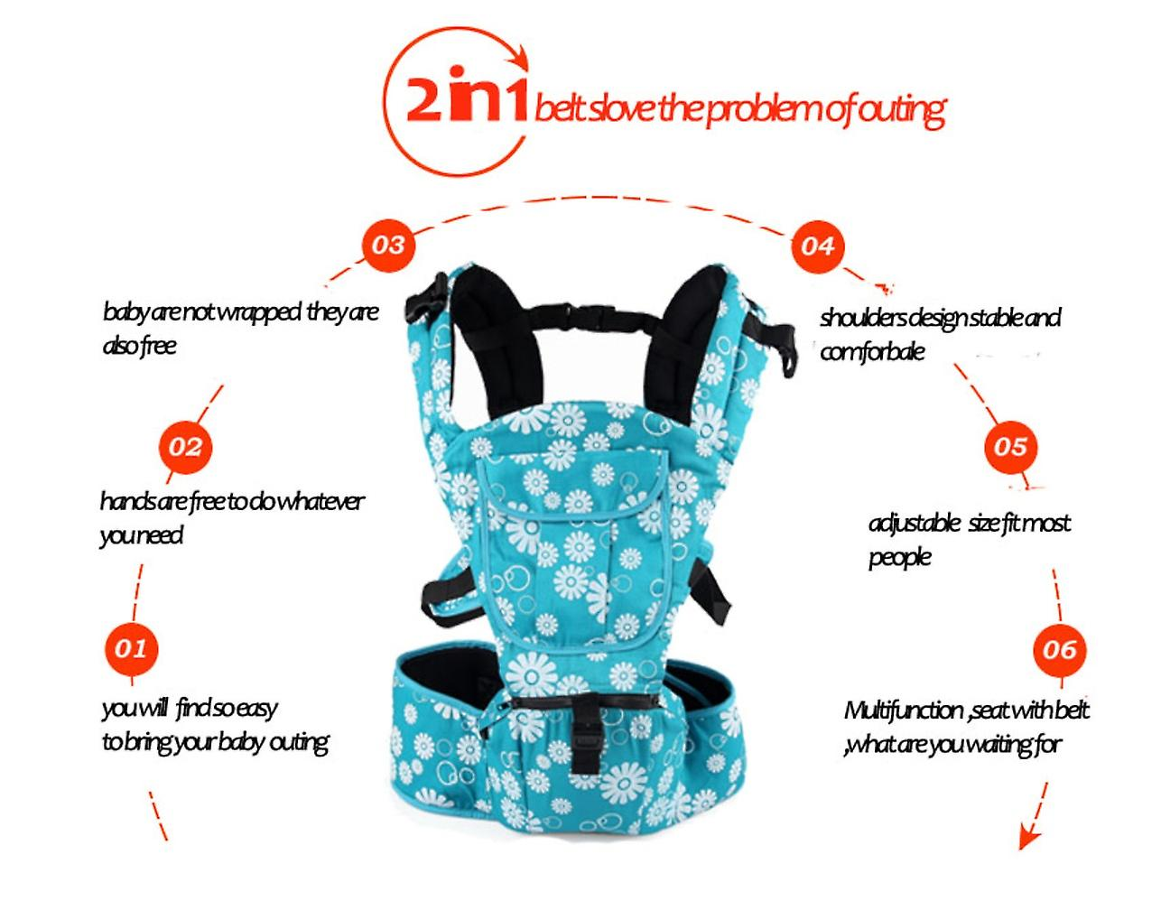 Baby and Child Carrier Multifunctional Front and Back Carrier Ergonomic Design Black