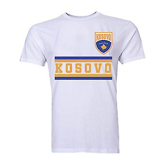 Kosovo Core Football Country T-Shirt (White)