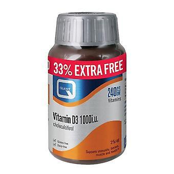 Quest vitaminen vitamine D3 1000iu tabs 240 (P601006)