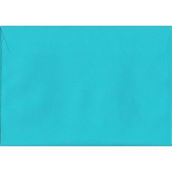 Cocktail Blue Peel/Seal C4/A4 Coloured Blue Envelopes. 120gsm Luxury FSC Certified Paper. 229mm x 324mm. Wallet Style Envelope.