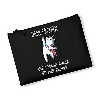 Dancercorn Unicorn Black Canvas Accessory Bag