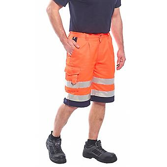 Portwest hi-vis poly-cotton shorts e043