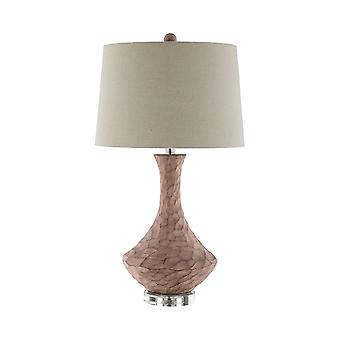 Brown resin table lamp stein world