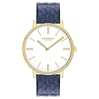Coach | Womens | Audrey | Metallic Navy Leather | White Dial | 14503351 Watch