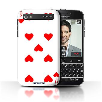 STUFF4 Case/Cover for Blackberry Classic/Q20/9 of Hearts/Playing Cards