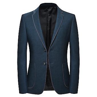 Allthemen Men's Solid Slim Fit Business Casual Autunno&Giacca Primavera Giacca