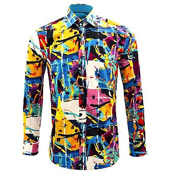 Claudio Lugli Abstract Painting Mens Shirt