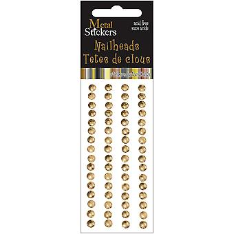 Metal Stickers Nailheads 5Mm Round 64 Pkg Gold 38Ms5mm 3882