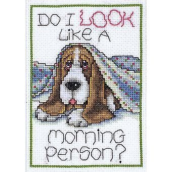 Morning Dog Counted Cross Stitch Kit 5