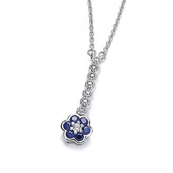 Cavendish French Sapphire CZ Pansy Necklace
