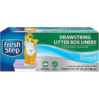Fresh Step Drawstring Litter Box Liners 7/Pkg-Jumbo Scented FFP8425S