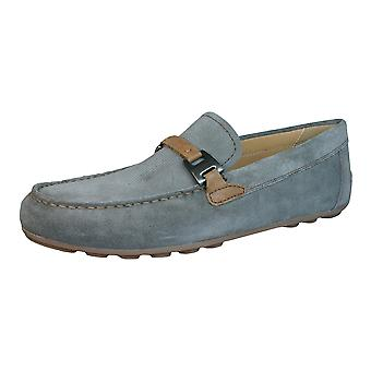 Geox Shoes U Giona B Mens Suede Leather Moccasins / Shoes - Grey