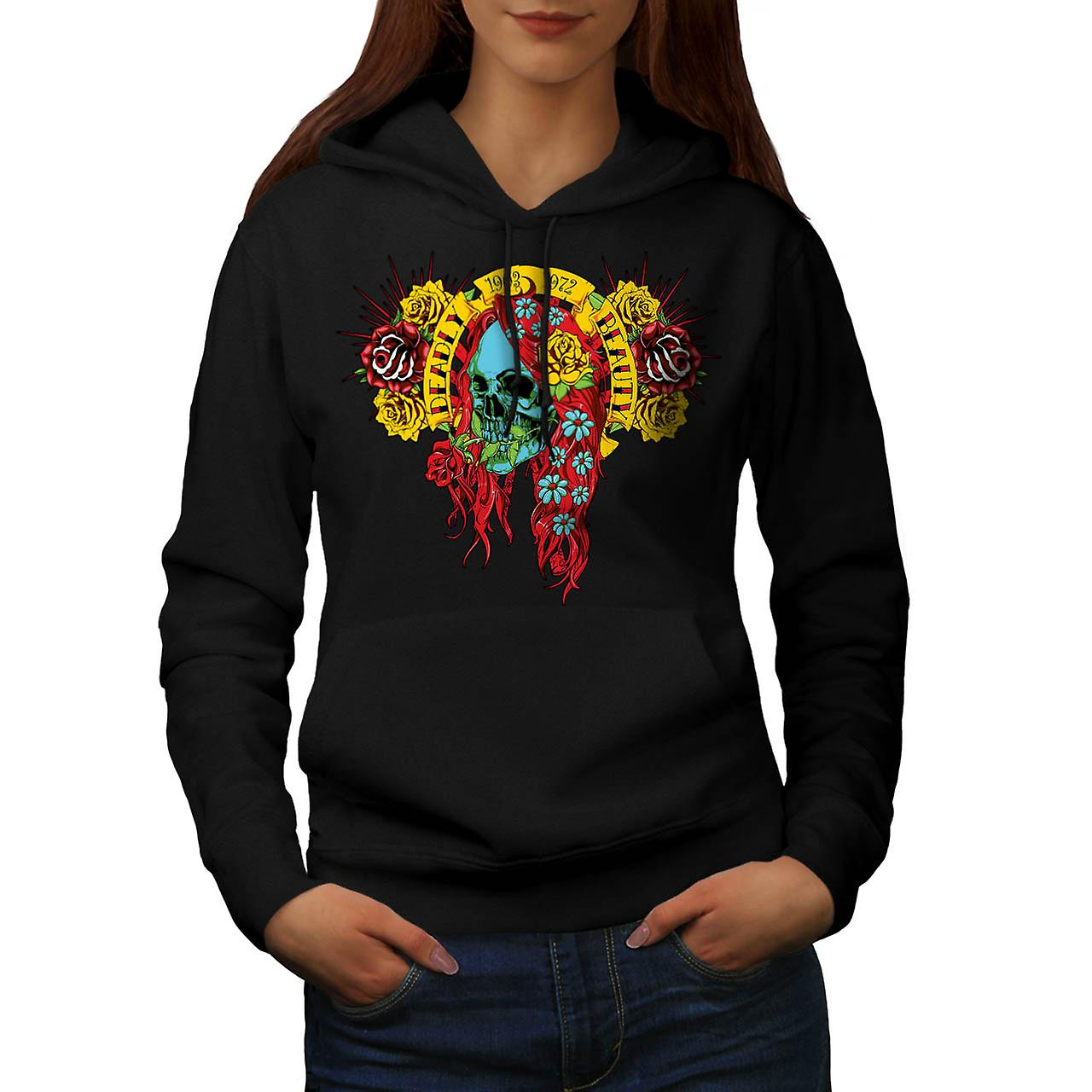 Deadly Beauty Skull Ugly Death Women Black Hoodie | Wellcoda