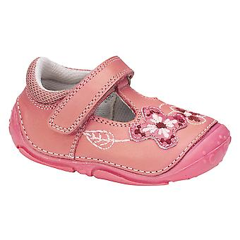 Hush Puppies Girls Gert Pre-walkers F Fitting Pink