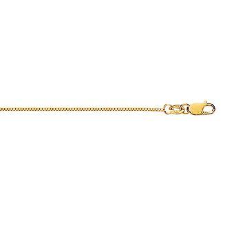 18 k 0,6 mm gelb Gold Box Kette - Länge: 16 bis 20