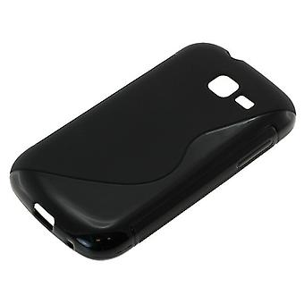 TPU case compatible with Samsung Galaxy trend Lite S7390 S-curve black