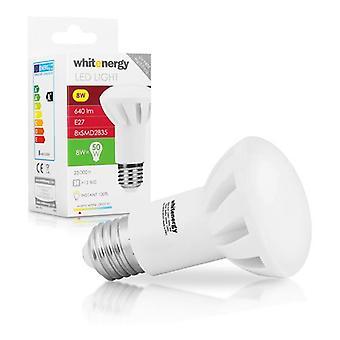 WHITENERGY LED pære 8 x SMD 2835 LED R63 E27 8W 230V hvid varm (10078)