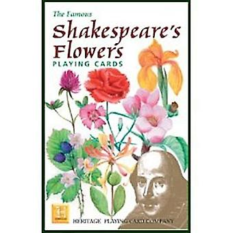 Shakespeares bloemen set van 52 speelkaarten (+ jokers) (hpc)