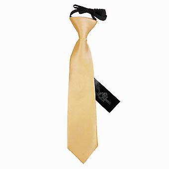 Boy's Pale Yellow Plain Satin Pre-Tied Tie (2-7 years)
