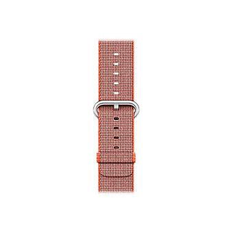 Apple 38 mm geweven Nylon riemen-Klockrem-antraciet, rymdorange-Watch (38 mm)