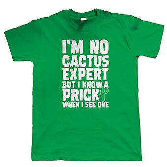 Cactus Expert, Mens grappig T-Shirt