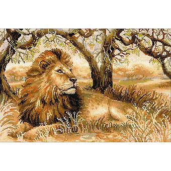 King Of Beasts Counted Cross Stitch Kit-23.75