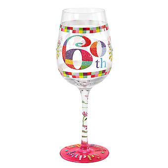 Here's To You 60th Birthday Wine Glass