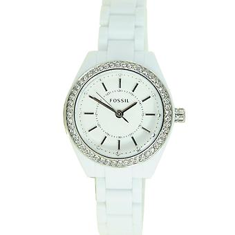 Fossil ladies watch resin strap watch stainless steel rhinestone BQ1199