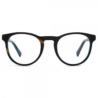Hook LDN Parklife Glasses In Tortoiseshell On Turquoise