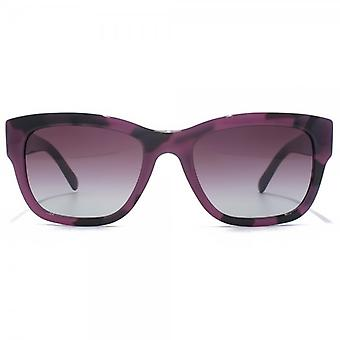 Burberry Trench Square Sunglasses In Spotted Violet
