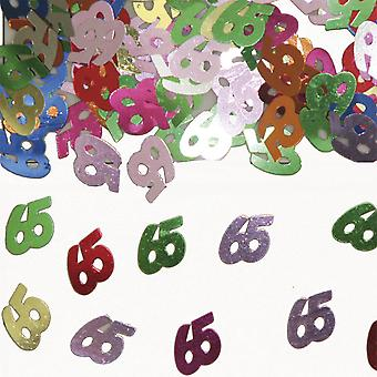 Table confetti number 65 decoration confetti birthday party