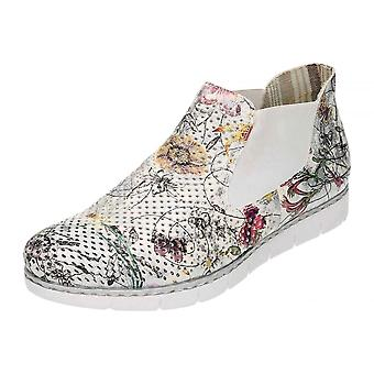 Rieker Multi - Coloured Flat Pull On Ankle Casual Funky Shoes M1397-90