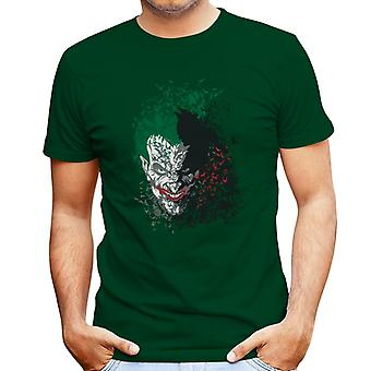 Batman Dark Knight Arkham Bats Joker Men's T-Shirt