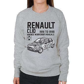 Haynes Owners Workshop Manual Renault Clio Black Women's Sweatshirt
