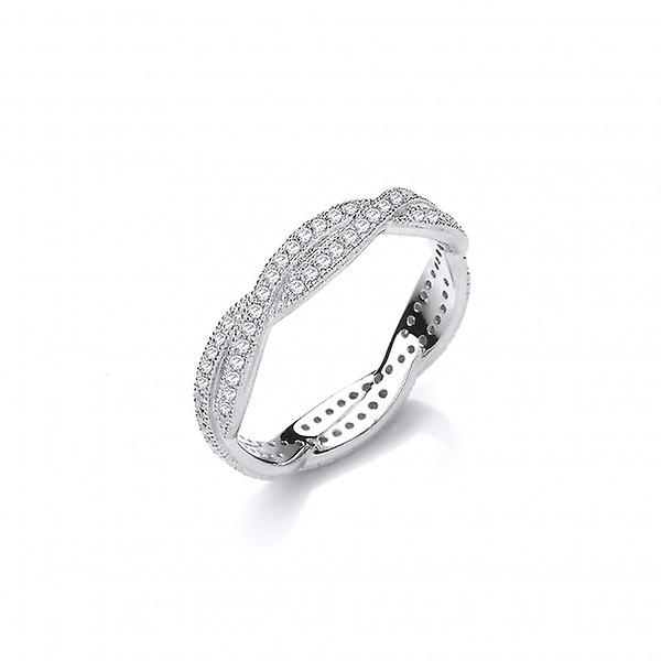 Cavendish French CZ Skinny Woven Strands Sterling Silver Ring