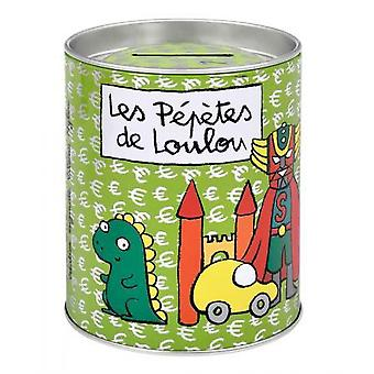 Derrière la Porte Money Box Metal Green Pepetes Loulou (Home , Gadgets)