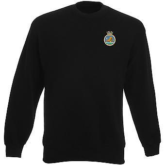 HMS Vanguard bordado logotipo - camisola real da Marinha submarino oficial MOD Heavyweight