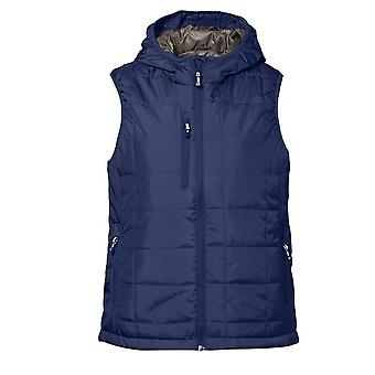 ID Womens/Ladies Regular Fitting Quilted Vest / Bodywarmer With Hood