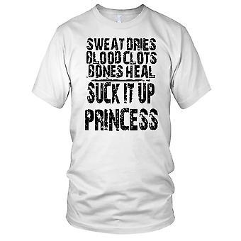 Svette Dries blodpropp bein helbrede suge den opp prinsesse treningssenter trening Bodybuilding damer T skjorte