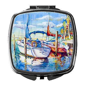 Carolines Schätze JMK1230SCM hoch aufragenden Q Segelboote Taschenspiegel
