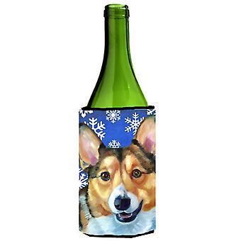 Corgi vinter snøflak ferie vinflaske drikke isolator Hugger