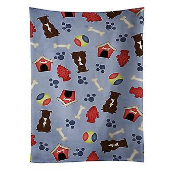 Tovagliolo di cucina cioccolato di cane casa collezione Staffordshire Bull Terrier