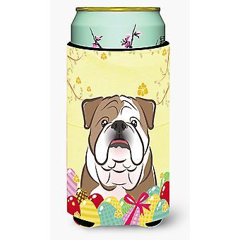 English Bulldog  Easter Egg Hunt Tall Boy beverage Insulator Hugger