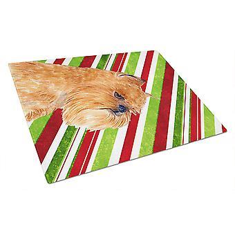Брюссельский гриффон тростника конфеты праздник Рождества Стеклянная Разделочная доска большой