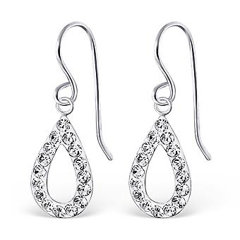 Drop - 925 Sterling Silver Crystal Earrings - W19440x