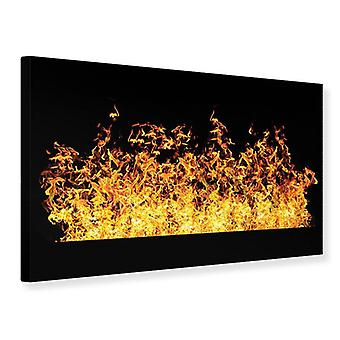 Canvas Print Contemporary Fire Wall