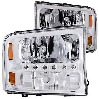 Anzo USA 111088 Ford Crystal Clear With LED Strip Headlight Assembly - (Sold in Pairs)