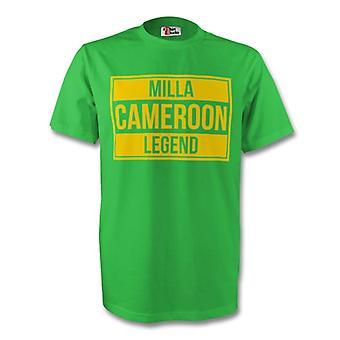Roger Milla Cameroun legende Tee (grøn) - børn
